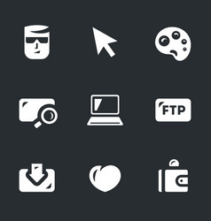 Set of digital painting icons vector