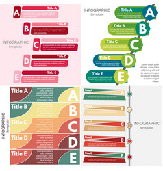 Set of four elements of infographic design vector