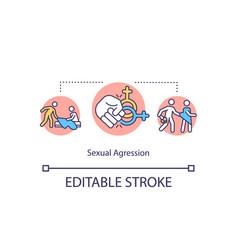 Sexual aggression concept icon vector