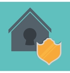 Smart home design protection icon graphic vector