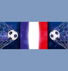 Soccer or football wide banner with 3d ball on vector