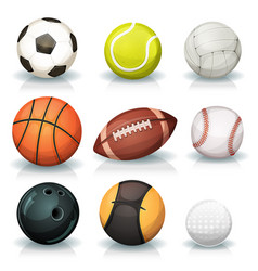 sports balls set vector image