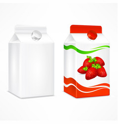 Strawberry juice package vector