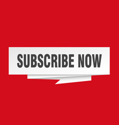 Subscribe now vector