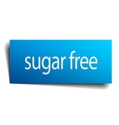 Sugar free blue paper sign on white background vector
