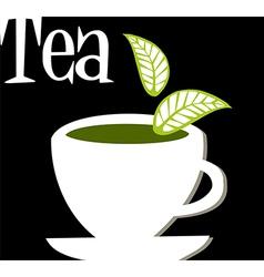 Tea label vector image
