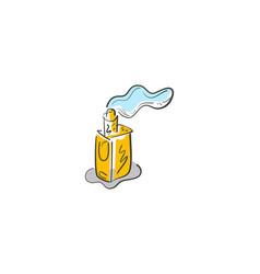 Vape shop logo vapor bar vaporizer logo vector