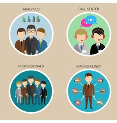 Variety Human Resource Icons vector