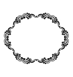 vintage border frame decoration romantic vector image