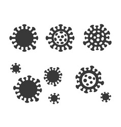 virus icon on a white background vector image