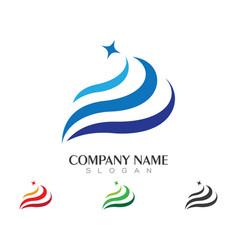 water wave logo template design vector image