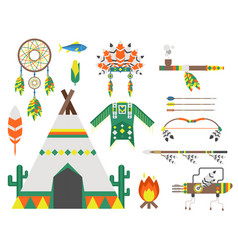 Wild west american indian designed element vector