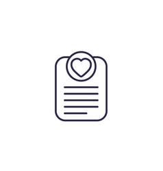 Wish list line icon vector