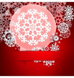 Christmas with speech bubble and snowflakes vector image