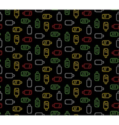 Colors battery seamless pattern dark technology vector image vector image