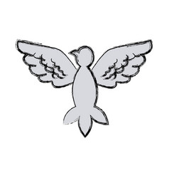dove bird for peace freedom wings open concept vector image