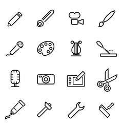 line art tool icon set vector image