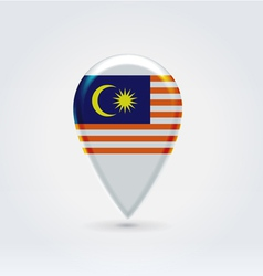 Malaysian icon point for map vector