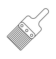 paint brush tool design thin line vector image