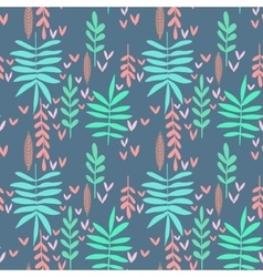 Seamless nature background vector image vector image