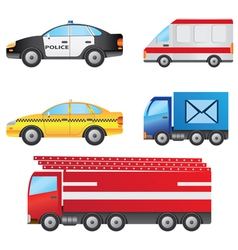set of different types of cars vector image