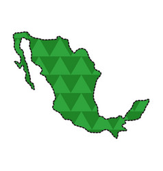 dotted line map of mexico vector image