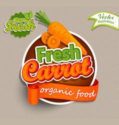 Fresh carrot logo vector