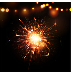 Holiday Background with Sparkler vector image