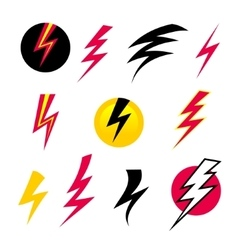 set Icons Lightning vector image vector image