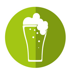 St patricks day green beer shadow vector