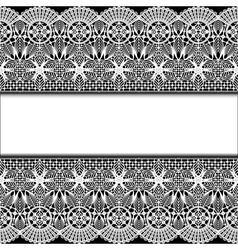 Background with stripes white lace vector