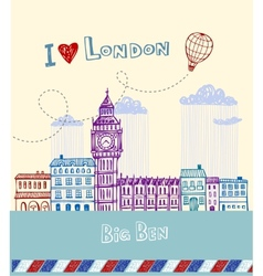 Big Ben - symbol of London vector image vector image