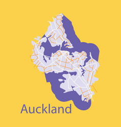 Map - auckland new zealand - flat - vector