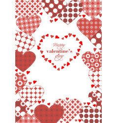 template to valentines day with hearts vector image vector image