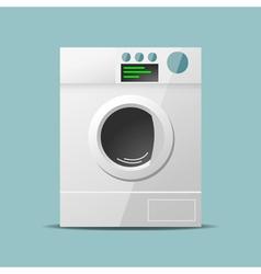 Washing machine flat design vector image vector image