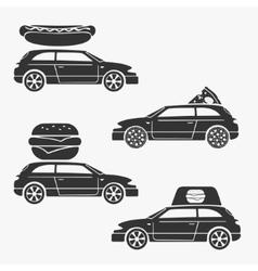 Food delivery symbol vector image vector image