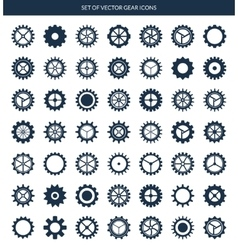 gear icons set vector image vector image