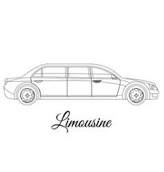 Limousine car body type outline vector