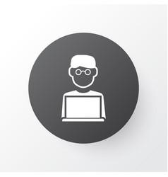 man with laptop icon symbol premium quality vector image