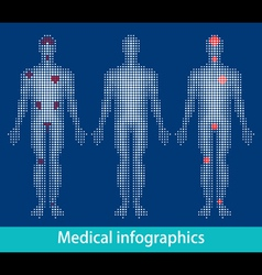 medical infographics vector image vector image