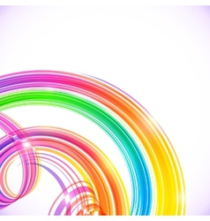 Rainbow colors abstract shining spirals background vector image vector image