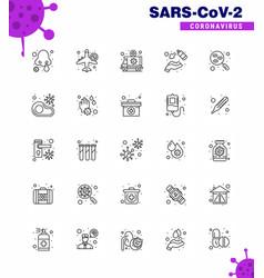 25 coronavirus emergency iconset blue design vector
