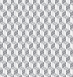 Abstract geometric hexagon cube seamless patterns vector image