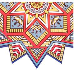 abstract mandala triangle square design ima vector image