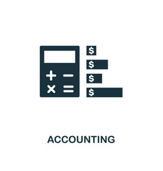 accounting icon creative element design from vector image