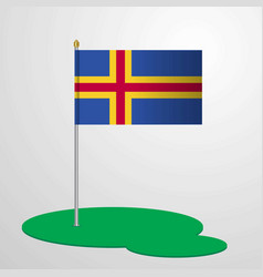 Aland flag pole vector