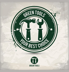 alternative green tool stamp vector image