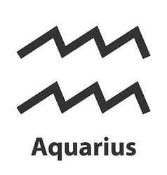 Aquarius waterbearer zodiac sign icon vector image
