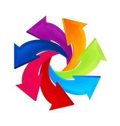 arrows twirling in a circle business icon vector image