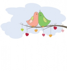 background with birds vector illustration vector image